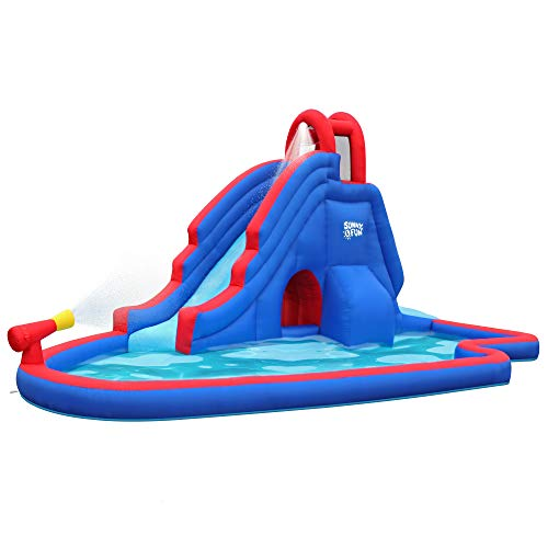 Best inflatable water slide - Sunny & Fun Deluxe Inflatable Water Slide Park