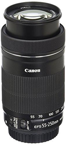 Canon Telezoomobjektiv EF-S 55-250mm F4-5.6 IS STM für EOS (58mm Filtergewinde, Bildstabilisator), schwarz