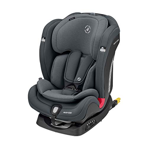 Maxi-Cosi 8834550110 Titan Plus, Comfortabel Autostoeltje, Omkeerbaar, Groep 1-2-3, ISOFIX, Vanaf 9 Maanden Tot 12 Jaar, 9-36 kg, Authentic Graphite, 50.5 x 44.5 x 63 cm