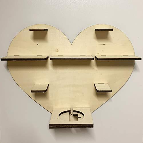 DIY Regal Herz für die Musikbox passend für Toniebox Kinder Baby Zimmer zum selbst bemalen mit Wunschname tolles individuelles Geschenk zum Geburtstag