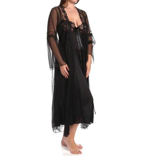 Shirley of Hollywood maat 5 X zwart lange gewand en badjas Peignoir Set 2 stuks