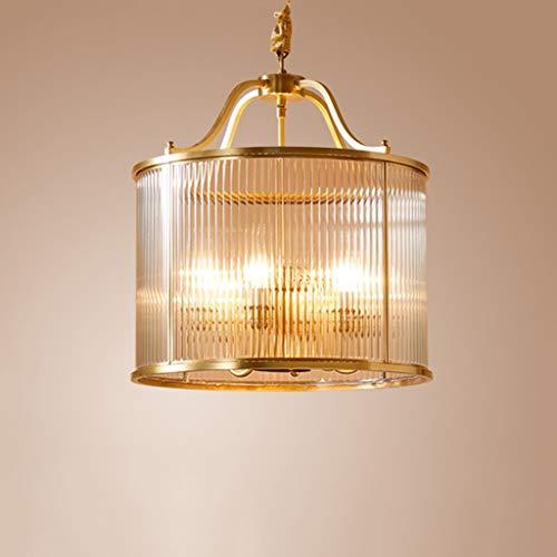 XCY Útil sala de estudio de cobre lámparas de araña dormitorio restaurante americano lámparas de vidrio sala de estar hotel led lámparas de araña