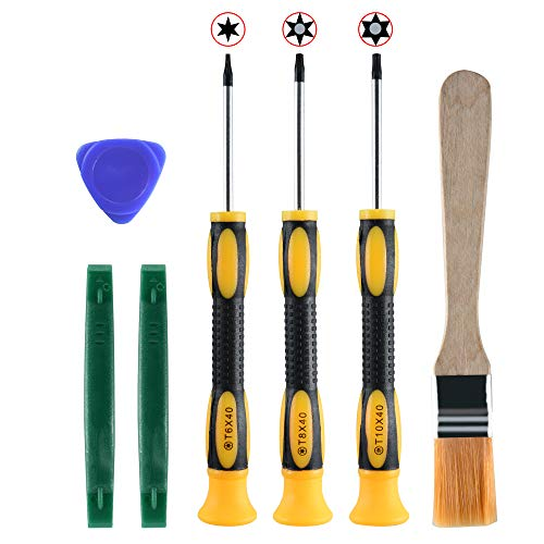 CM T6 T8 T10 Torx Screwdriver Tool Kit Set Prying Tool for Xbox 360 Controller, Xbox One and PS3