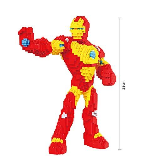BBHH Superhéroe Modelo 3D DIY Diamante Mini Pequeños Bloques De Construcción Ladrillos Kits De Juguetes para Regalos De Los Niños,Iron Man