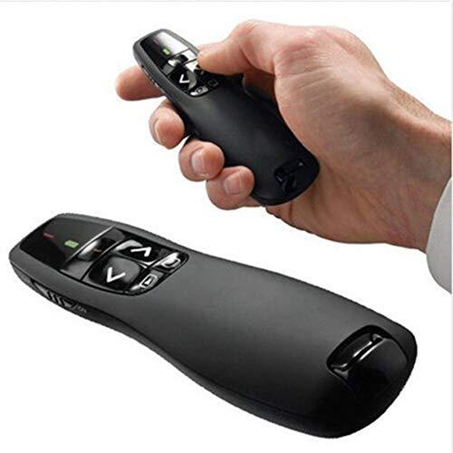 PLMO Handheld R400 2.4 Ghz USB Draadloze Presenter PPT Afstandsbediening met Rood Licht voor Powerpoint Demo