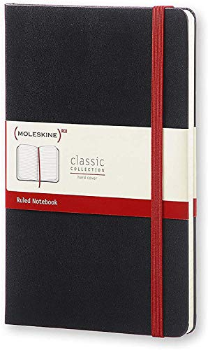 "Moleskine (PRODUCT) RED Classic Notebook, Hard Cover, Large (5"" x 8.25"