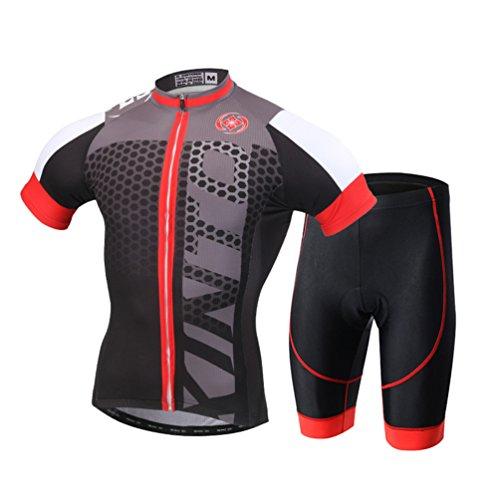 YOUJIA Maillot Conjunto Mangas Cortas de Ciclismo Pantalones Cortos de Bicicleta para...