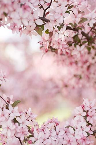 Fondos fotográficos de Retrato de bebé recién Nacido con pétalos de Flores de Primavera Rosadas para Estudio fotográfico A8 9x6ft / 2,7x1,8 m