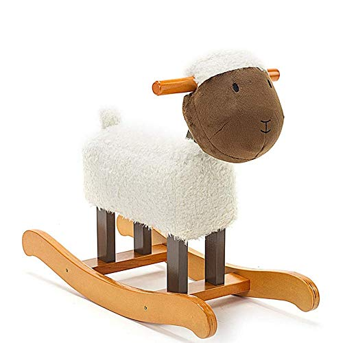 Baby Rocking Horse Ride Toy, Rocking Horse Solid Wood Children Trojan Children Toy Rocking Chair Gift