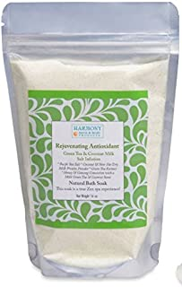 Best Green Tea Coconut Milk Infusion - Best Bath Sea Salt Mix - Rejuvenating Antioxidant - Balances and Relaxes the Body and Spirit
