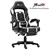 JR Knight Ergonomic Gaming Chair with Footrest,Gamer Design with Adjustable Height and Lumbar...