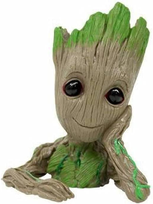 Trust Baby Groot Flower Pot Tree Spring new work one after another Cute Plants Drain with Man