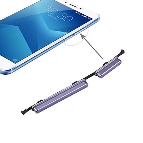 GGAOXINGGAO Pieza de reemplazo del teléfono móvil Reemplazo de Teclas Laterales for Meizu M5 Note Piezas de Repuesto de teléfono (Color : Grey)