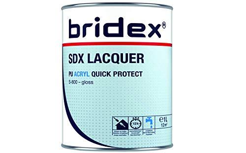 Profi Buntlack weiß | Möbellack 1 Liter hochglänzend | Schutzlack für Innen und Außen | Stoßfest, kratzfest, witterungsbeständig | Metalllack, Kunststofflack, Holzlack | Wasserbasiert