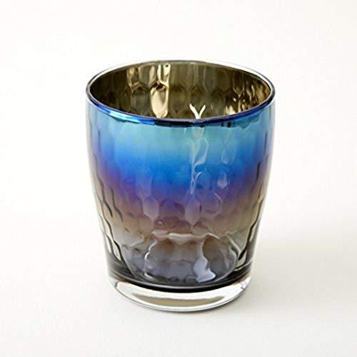 【お酒色に染まるグラス】 ミラーなのに透ける お酒にピッタリのプレミアムチタンとガラスの器 Glow(グロー) (Infinite)