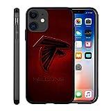 Custom Phone Case for iPhone 11 Falcon Flexible Slim Soft TPU Atlanta Phone Case Scratch-Resistant Shockproof Protective Anti-Slip Back Cover