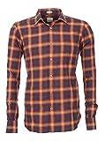 Signum - Herrenhemd - Langarmhemd mit weicher Oberfläche - Orange - Größe M