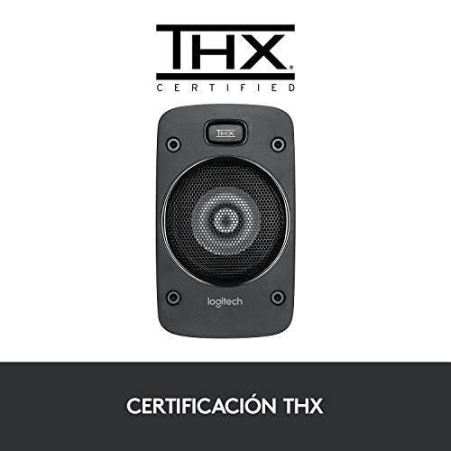 Logitech Z906 5.1 Sistema de Altavoces Sonido Envolvente THX, Certificado Dolby&DTS, 1000 W de Pico, Multi-Dispositivos, Entradas Audio Múltiples, Enchufe EU, PC/PS4/Xbox/TV/Móvil/Tablet