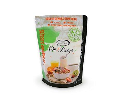 Oh! Lecker 300g Stevia Streusüße ohne Zucker  Natürlich Ohne Gentechnik  Zum Zuckerfrei Backen  Extrakt aus der Pflanze  Kalorienfrei  Mit Erythrit  Zuckerersatz Zuckeralternative  Glutenfrei