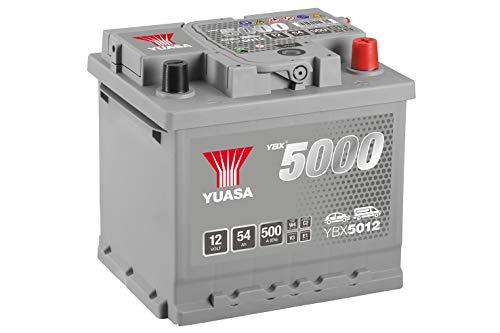 Yuasa YBX5012 Hochleistungs-Starterbatterie, silber