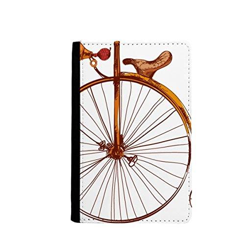beatChong Altmodisches Fahrrad High Wheeler Britannien Pass-Halter Travel Wallet Abdeckungs-Fall Karten-Geldbeutel