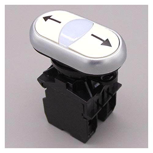 Jgzwlkj Interruptores basculantes 22 mm 2No Flecha Interruptores de botón de Empuje Botón momentáneo Interruptor del botón del Interruptor del botón pulsador momentáneo
