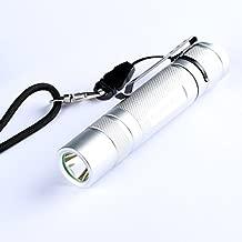 Convoy S2+ Silver XP-L HI 7135x8 3/5modes Rubber Button EDC LED Flashlight 18650 (Design V2-1A)