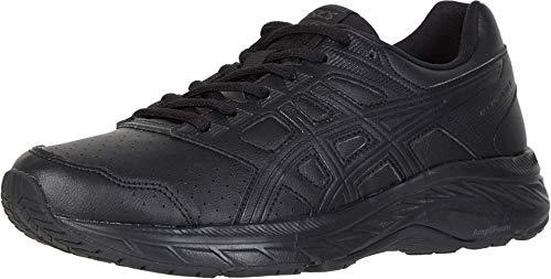 ASICS Women's Gel-Contend 5 Walker (D) Running Shoes, 7W, Black/Graphite Grey