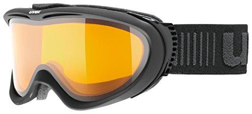 uvex Unisex's Volwassene, Comanche LGL skibril, zwarte mat, één maat