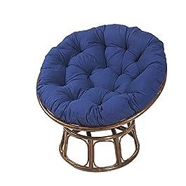 100 × 100CM Coussin De Chaise Papasan Coussin Fauteuil Épaissir Confortable Coussin de SièGe Rond pour Balançoire…