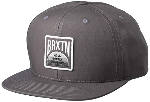 BRIXTON Unisex_Adult Pivot X MP Snapback Baseball Cap, Black, One Siz