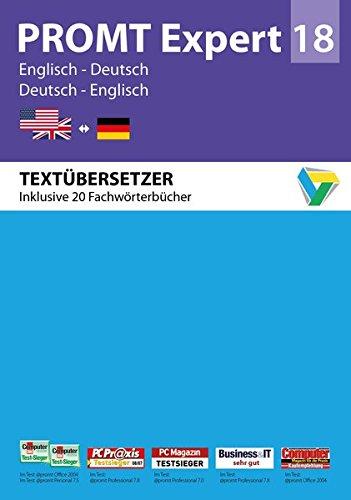 PROMTExpert 18 Englisch-Deutsch: Übersetzungssoftware Englisch-Deutsch für Übersetzer und Übersetzungsbüros. Arbeitsoptimierung, automatische ... 7, 8 und 10. (PROMT Übersetzungssoftware)