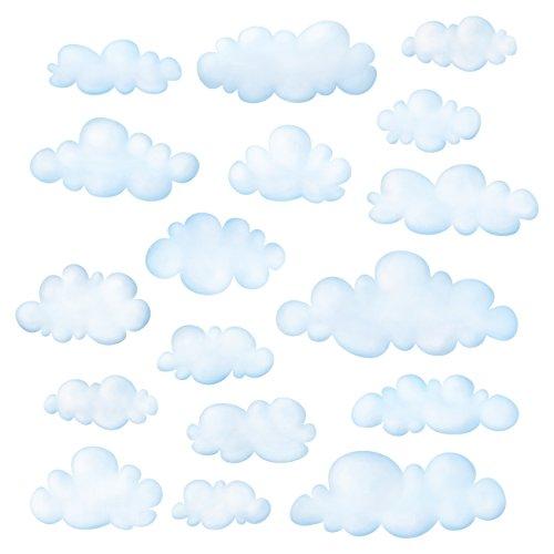 DECOWALL DS-8030 Nubes (Pequeña) Vinilo Pegatinas Decorativas Adhesiva Pared Dormitorio Saln Guardera Habitaci Infantiles Nios Bebs