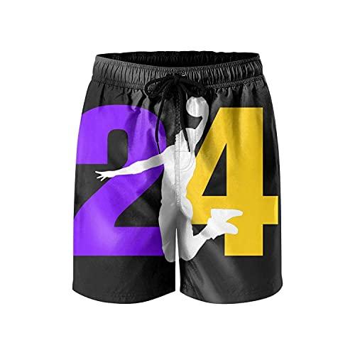 N \ A Pantalones cortos para hombre MVP-24-Baloncesto-jugador- Trajes de baño de secado rápido con forro de malla para playa