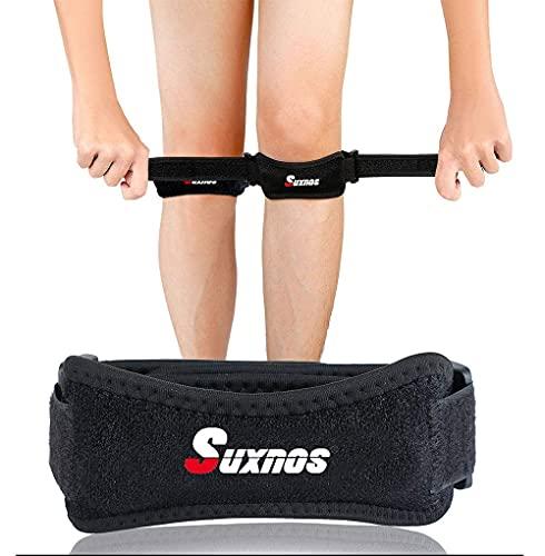 Knie Patella Support Gurt Bandage Knieschützer Stabilisator & Verstellbare Universalgröße Atmungsaktiv für Wandern, Fußball, Basketball, Laufen, Jumpers Knee, Tennis, Volleyball & Squats