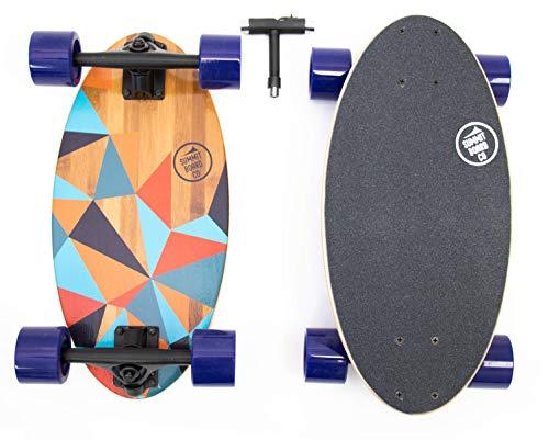 Short Longboard - Summit Board Co - Mini Longboard Cruiser (Prism)