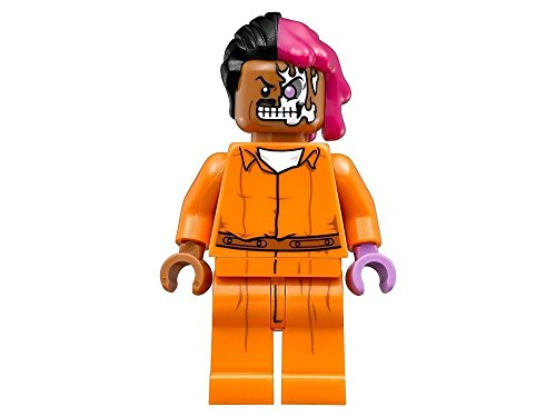 LEGO BATMAN MOVIE MINIFIGURE - TWO-FACE IN ARKHAM ASYLUM PRISON JUMPSUIT - 70912