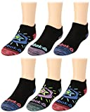 Reebok Girls' Lightweight Comfort Athletic Low Cut Socks (6 Pack) (Black 2, Small/Shoe Size: 4-8)'