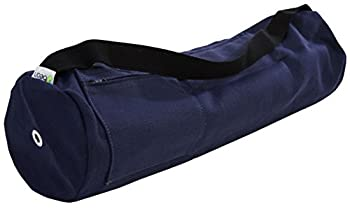 Blueberry Hemp Mat Bag - 8  Round x 32  Long - Easy Open Zipper - Extra Large -  fits Manduka + Jade  - Made in USA