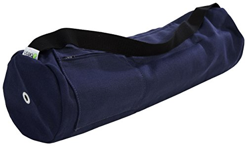 "Blueberry Hemp Mat Bag - 8"" Round x 32"" Long - Easy Open Zipper - Extra Large - (fits Manduka + Jade) - Made in USA"
