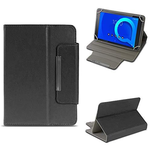 NAUC Tablet Tasche für Alcatel 1T 10 Hülle Schutzhülle Hülle Schutz Cover 10.1 Zoll, Farben:Schwarz