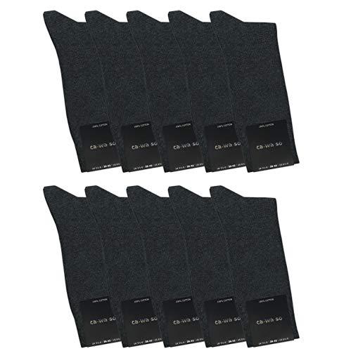ca·wa·so Herren Socken aus 100% Baumwolle (10er-Pack) (43-46, grau)