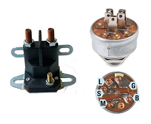 gardexx Universal Magnetschalter und Zündschloss für Rasentraktor