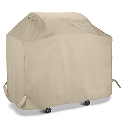 UNICOOK Heavy Duty Grill Cover, UV Protection, with 600Denier Thick Fabric, Padded Handle, Helpful Air Vents