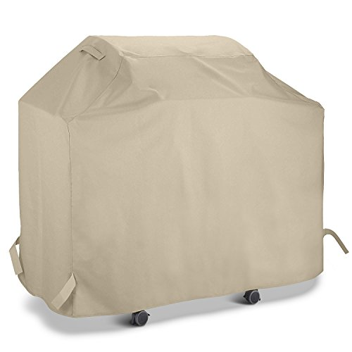Unicook Gas Grill Cover 53 Inch, Outdoor Charcoal Barbecue Grill Cover, Heavy Duty Water Resistant, All Weather Protection, Fit Grills of Weber, Char-Broil, Nexgrill, Brinkmann and More, Desert Sand