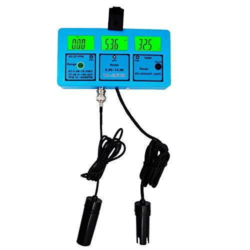 QYY Medidor de Monitor de Calidad de Agua 5 en 1, Medidor de pH portátil, Dispositivo de análisis de múltiples parámetros Analizador de medidor de pH para pH/CE/Fibra de Carbono/TDS/Temperatura
