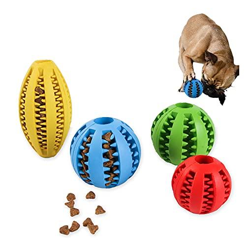 SZGR Hundeball mit Zahnpflege-Funktion Noppen Hundespielzeug aus Naturkautschuk - Robuster Hunde Ball - Hundespielball für Große & Kleine Hunde - Kauspielzeug aus Naturgummi für Leckerli,Blue