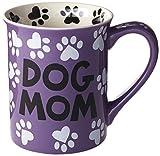 "Enesco Our Name is Mud ""Dog Mom, 16 oz. Stoneware Mug, 16 Ounces, Multi Color"