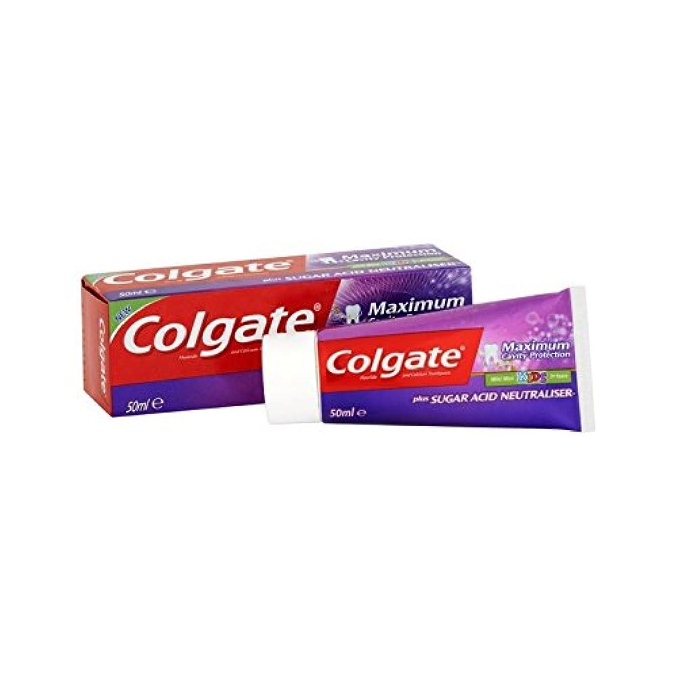 値下げ最初にピース最大空洞の子供の50ミリリットルを保護 (Colgate) (x 2) - Colgate Maximum Cavity Protect Kids 50ml (Pack of 2) [並行輸入品]