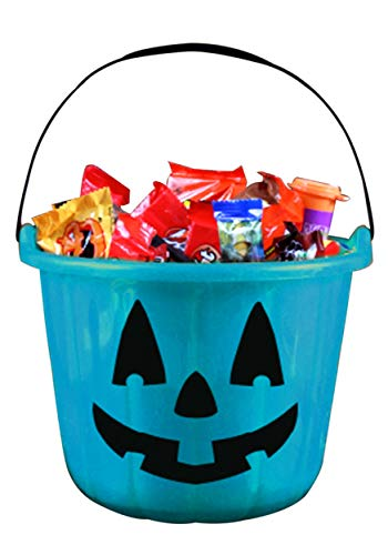 Fun World Teal Trick and Treat Pumpkin Bucket Standard